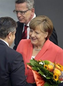 Angela Merkel after Greek bailout approved, July 17, 2015 (--kelownadailycourier.ca)