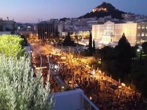 Protesters outside Greek Parliament (--Stelios Bouras)