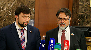 Denis Pushilin, Vladislav Deinego