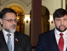 Vladislav Deinego, Denis Pushilin, Minsk (--en.eurobelarus.info)