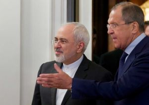 Mohammad Javad Zarif with Sergei Lavrov, Moscow meeting, August 17, 2015 (--seattlepi.com)