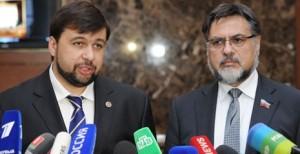 CG envoys Denis Pushilin, Vladislav Deinego (--rbth)