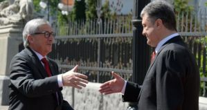 European Commission President Jean-Claude Juncker and Petro Poroshenko (--Irish Times)