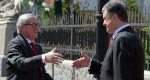 European Commission President Jean-Claude Juncker and Petro Poroshenko (--Irish Times)