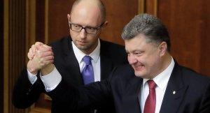 Arseney Yatsenyuk, Petro Porkoshenko (--Sputnik)