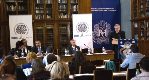 Michael Georg Link, Director of OSCE Office for Democratic Institutions and Human Rights (ODIHR) launches ODIHR's new Ukraine project, April 24, 2015