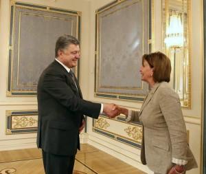 Petro Poroshenko, Nancy Pelosi, Kiev, August 5, 2015 (--liveuamap.com)