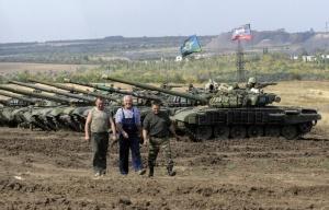 DPR/LPR militia, Sep. 21, 2015 (--EPA/Alexander Ermochenko)