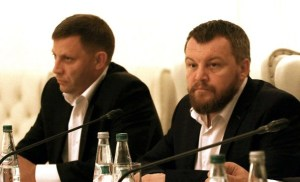 Alexander Zakharchenko and Andrei Purgin - where are their statements? (--AFP/ Sergei Gapon)
