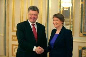Petro Poroshenko, Helen Clark (--UNDP)