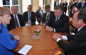 Merkel, Putin, Poroshenko, Hollande, Paris, October 2, 2015 (--TASS/Alexei Druzhinin)