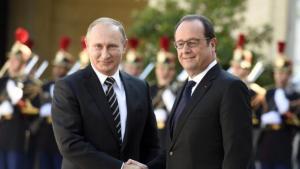 Vladimir Putin, Francois Hollande Nov 2015