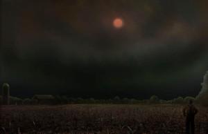 Nuclear winter, smoke blocks 70% of sunlight