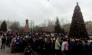 Funeral of Pavel Dremov, Stakhanov, Lugansk, Dec. 15, 2015 (--Alexey Albu)
