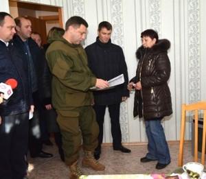 Alexander Zakharchenko with Uglegorsk residents