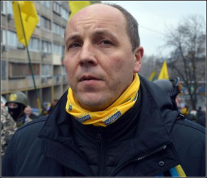 Andriy Parubiy, 'commandant' of Maidan paramilitaries (Liga.net)