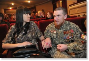 Motorola and wife Elena at Donetsk Opera and Ballet Theatre