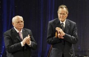 Mikhail Gorbachev, George H.W. Bush, 2009 (--TASS/AP/Herbert Knosowski)