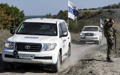 OSCE mission, LPR, 2015 (Aleksander Gayuk/AFP)