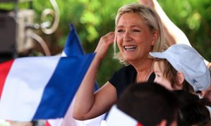 Front National leader Marine Le Pen during political rally Brachay, France. (--Francois Nascimbeni/AFP/Getty)