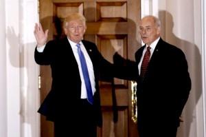 Trump, ret Marine Corps Gen. John Kelly (-yahoo)