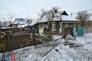 House in Donetsk region damaged by Ukrainian shelling in January 2017 (--DAN News)