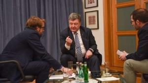 Poroshenko at earlier Bild inverview in 2016 (--En.censor.net)